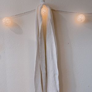 American Apparel White Knit Scarf